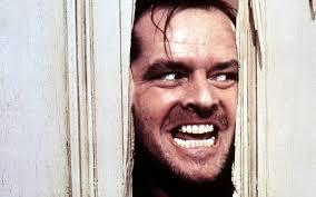 Jack Nicholson doing facial exercise