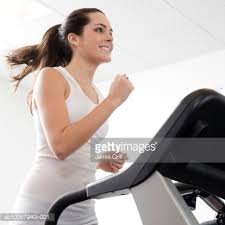 Woman on a treadmill
